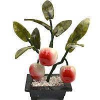 Дерево персик , 3 плода, пластик, текстиль, 18х19х7см