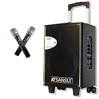 Портативная колонка с микрофонами Sansui SA1-10 (USB/BT/Аккумулятор)