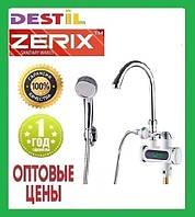 Проточный Водонагреватель Zerix ELW-11-E 3 kW Индикатор Температуры