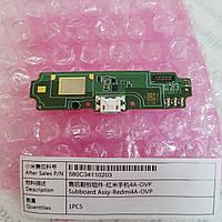 Оригинальная плата зарядки (шлейф) для Xiaomi Redmi 4A с разъемом зарядки и микрофоном p/n 580C34110203