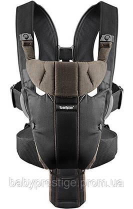 Рюкзак для переноски детей Babybjorn Miracle Black/Brown, Organic