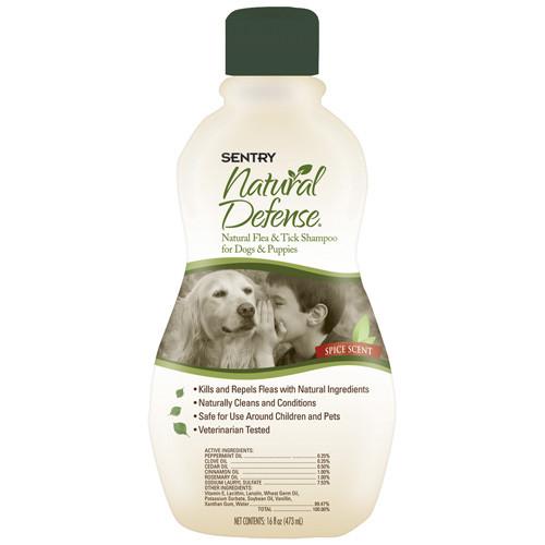 SENTRY Natural Defense СЕНТРИ НАТУРАЛЬНАЯ ЗАЩИТА шампунь от блох и клещей для собак и щенков 0.355мл