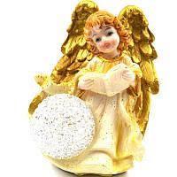 Статуэтка Ангел с шаром, светится, керамика, 12см