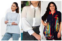 Женские блузки и рубашки нарядные,повседневные и в деловом стиле с 48 по 98 размер
