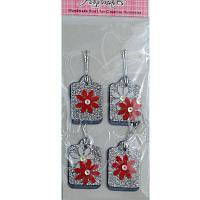 Набор украшений для скрапбукинга в ассортименте, картон, пластик, 19,5х7см, Handmades