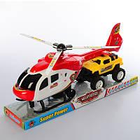 Набор с транспортом 1617-1-2 инер-й,вертолет30см,машина13см,2 вида (1в-полиц)