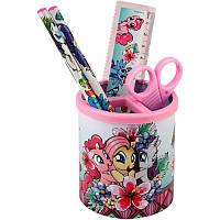 Подставка наст. (наполн.) детская, 3 предм., квадратная, розовая, Kite Little Pony