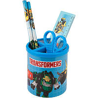 Подставка наст. (наполн.) детская, 3 предм., круглая, голубая, Kite Transformers