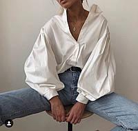Женская свободная рубашка с широкими рукавами 7113239