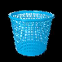 Корзина для бумаг ZiBi пластиковая 8 л синяя