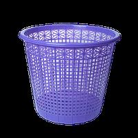 Корзина для бумаг ZiBi пластиковая 8 л фиолетовая