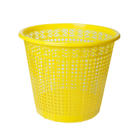 Корзина для бумаг ZiBi пластиковая 8 л жёлтая