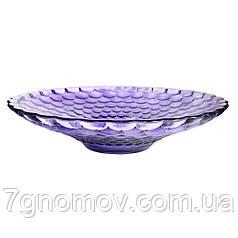 Блюдо из цветного фиолетового стекла Млечный путь 37 х 7.5 см