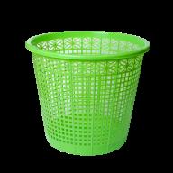 Корзина для бумаг ZiBi пластиковая с прорезями 8 л салатовая