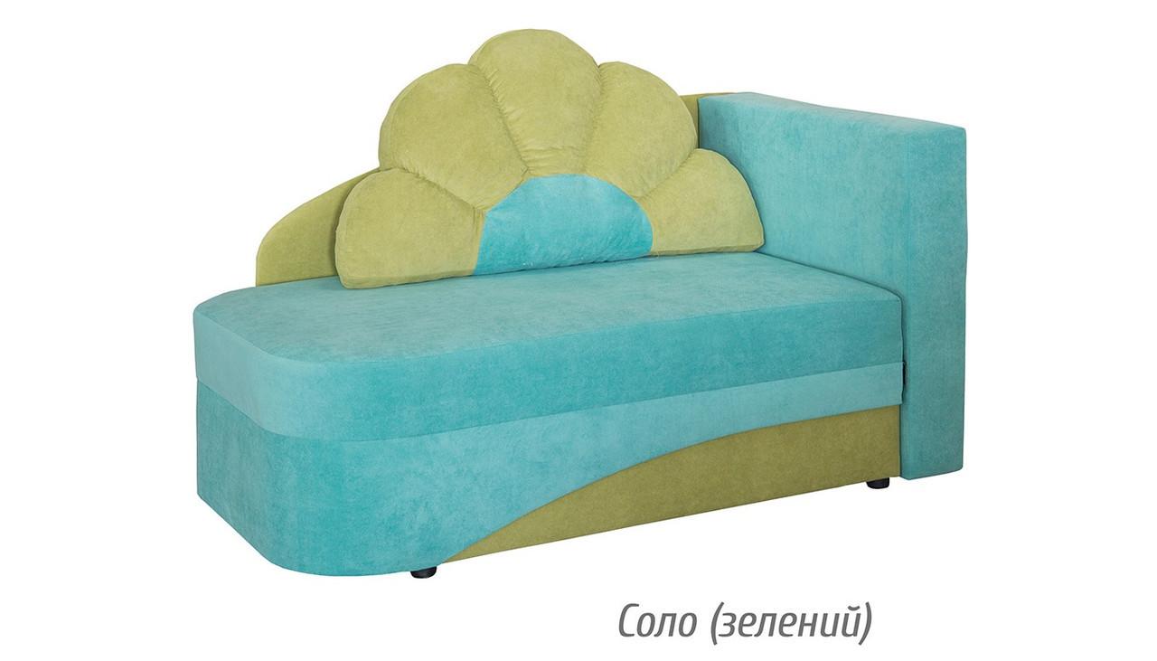 Детский раскладной диван Юниор Капелька соло (зеленый) Мебель-сервис
