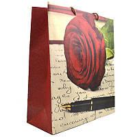 Пакет подарочный 365х345х115мм, верт., карт. крафт, в асс.
