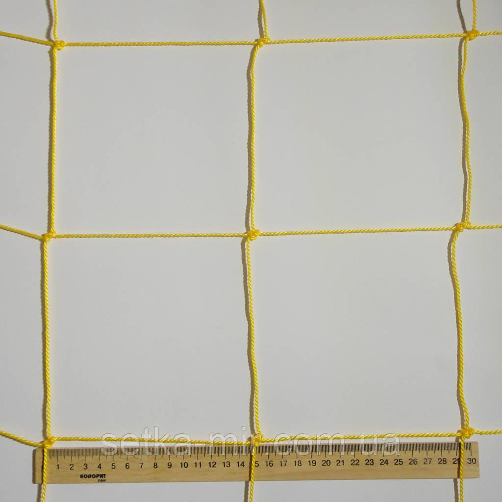 Сетка оградительная D 2,5 мм. 15 см. Ячейка заградительная, для спортзалов, стадионов, спортплощадок.