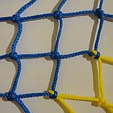 Сетка заградительная D 3,5 мм. 7,5 см. ячейка оградительная, для спортзалов, стадионов, спортплощадо, фото 4
