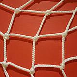 Сетка заградительная D 3,5 мм. 7,5 см. ячейка оградительная, для спортзалов, стадионов, спортплощадо, фото 3
