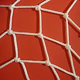 Сетка заградительная D 3,5 мм. 4,5 см. ячейка оградительная, для спортзалов, стадионов, спортплощадок., фото 3