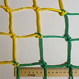 Загороджувальна сітка D 4,5 мм. Осередок 7,5 см., огороджувальна, для спортзалів, стадіонів, спортмайданчиків, фото 4