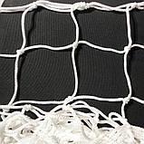 Сетка для футзала, гандбола «ЭЛИТ» белая (комплект из 2 шт.), фото 4