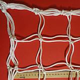 Сітка для футзалу, гандболу «ЕЛІТ 1.1» біла (комплект з 2 шт.), фото 4