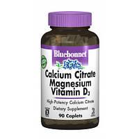 Кальцый + магний + витамин Д3 Bluebonnet Nutrition Calcium Citrate Magnesium+ Vitamin D3 (90 капсул)