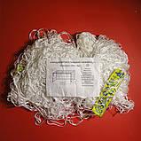 Сетка для футзала, гандбола «ЭКОНОМ 1.1» белая (комплект из 2 шт.), фото 3