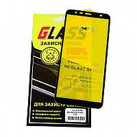 Защитное стекло для SAMSUNG J415 Galaxy J4 Plus (2018) Full Glue (0.3 мм, 2.5D, чёрное)