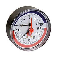 Термоманометр Giacomini 20° ÷ 120°C. 0 ÷ 6 bar  (Италия)