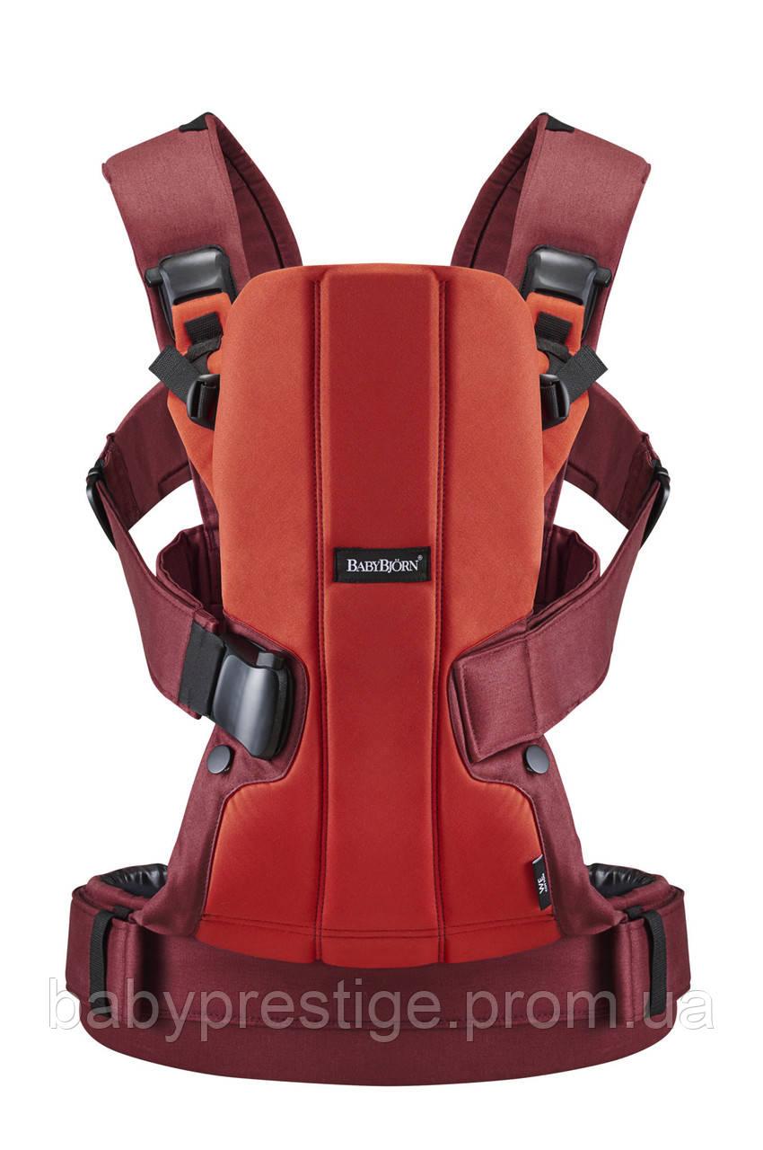 Эргономичный рюкзак для переноски детей Babybjorn WE Orange/Rust, Cotton Mix