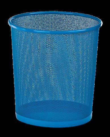 Корзина для бумаг Zibi круглая металлическая синяя