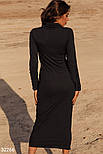 Облегающее длинное платье из трикотажа, фото 3