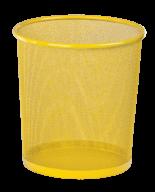 Корзина для бумаг Zibi круглая металлическая жёлтая