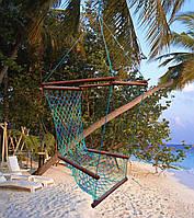 """Гамак кресло для дома для сада для дачи гамак с перекладинами туристический сетка сидячий """"Лиана"""""""
