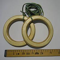 Кольца детские, подвесные ДЕРЕВЯННЫЕ «ПРЕМИУМ. БОГАТЫРЬ», фото 1