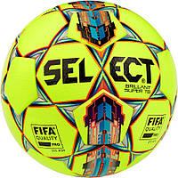 Мяч футбольный Select Brillant Super FIFA TB, желто-красный, р. 5