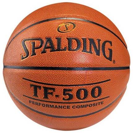 Мяч баскетбольный Spalding TF-500 Indoor/Outdoor Оранжевый Размер 7 (3001503011217), фото 2