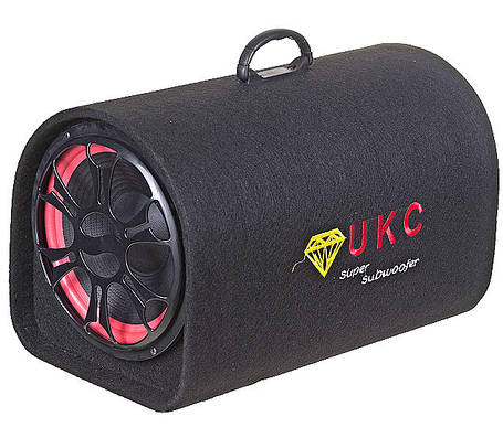 Колонка беспроводная Сабвуфер Bluetooth FM 12В и 220В 1800W UKC 1008BT Черная, фото 2