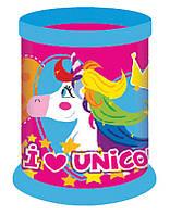 Стакан для ручек детский, пласт., 1 отд., круглый, розовый, разборной, Yes Magic unicorn