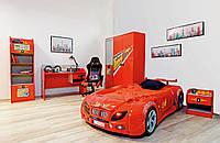 Кровать-машинка Форсаж Красная, Embawood, фото 1
