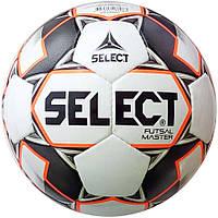 Мяч футзальный Select Futsal Master NEW IMS (128) бел/оранж/черн, фото 1
