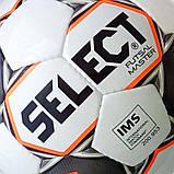 Мяч футзальный Select Futsal Master IMS, бело-оранжево-черный, р. 4, не ламинированный, низкий отско, фото 3