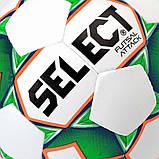 Мяч футзальный мини-футбольный Select Futsal Attack New бело-зеленый, р. 4, не ламинированный, низкий отскок, фото 3