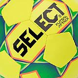 Мяч футзальный Select Futsal Attack New желто-зеленый, р. 4, не ламинированный, низкий отскок, фото 3