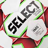 Мяч футзальный Select Futsal Samba IMS New, бело-красный, р. 4, не ламинированный, низкий отскок, фото 3