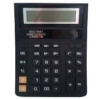 Калькулятор наст. Citizen SDC-888Т, 12 разр., фиксированный угловой, 195х150х30, черный