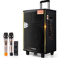 Потужна акумуляторна колонка з мікрофонами Sansui SA1-12 300W (USB/Bluetooth/Пульт ДУ), фото 1