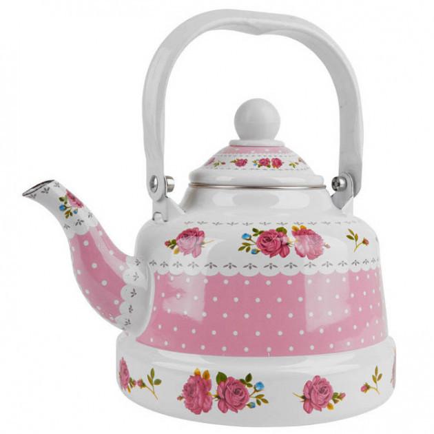 Эмалированный кухонный чайник 2.5 л UNIQUE UN-2303 красивый дизайн